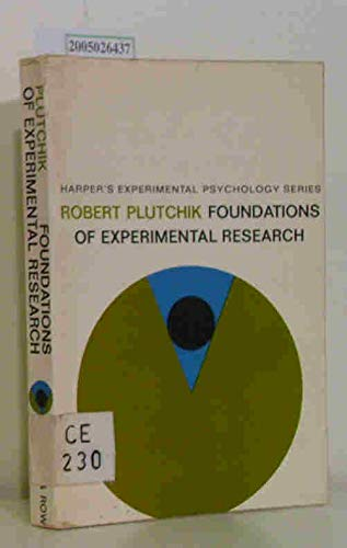 9780060452391: Foundations of Experimental Research