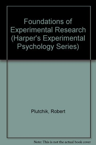 9780060452414: Foundations of Experimental Research (Harper's Experimental Psychology Series)