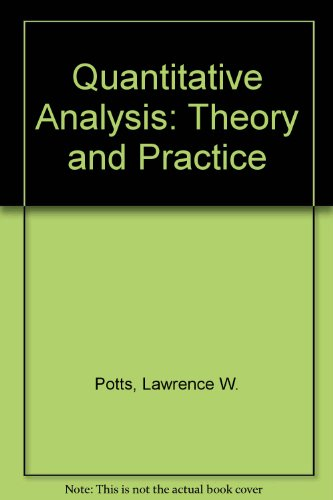 9780060452698: Quantitative Analysis: Theory and Practice