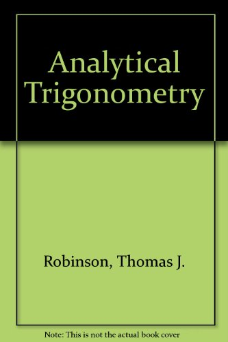 9780060455057: Analytical Trigonometry