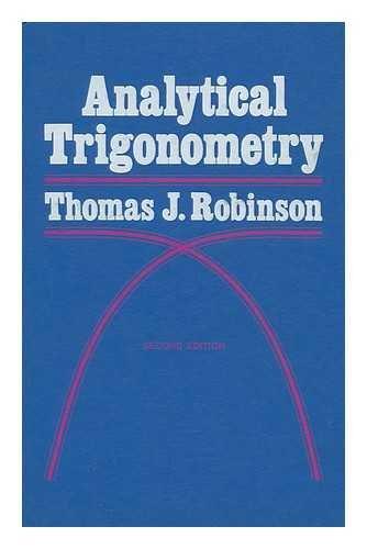9780060455064: Analytical trigonometry