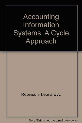 9780060455095: Accounting Information Systems: A Cycle Approach