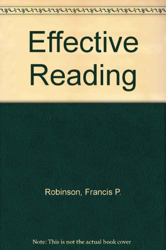 9780060455101: Effective Reading