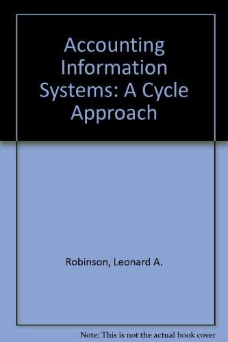 9780060455156: Accounting Information Systems: A Cycle Approach