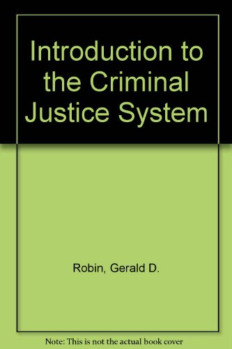 9780060455187: Introduction to the Criminal Justice System
