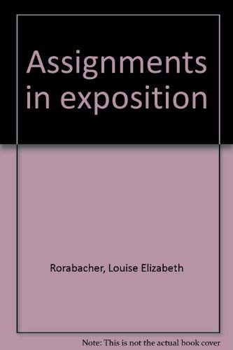 9780060455743: Assignments in exposition
