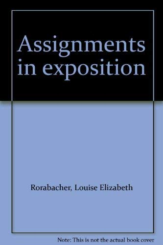 9780060455750: Assignments in exposition