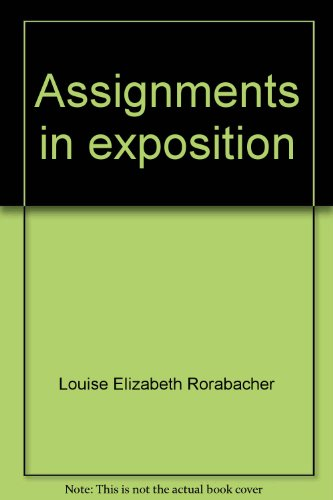 9780060455767: Assignments in exposition