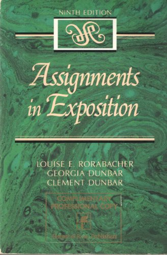 9780060455781: Assignments in Exposition