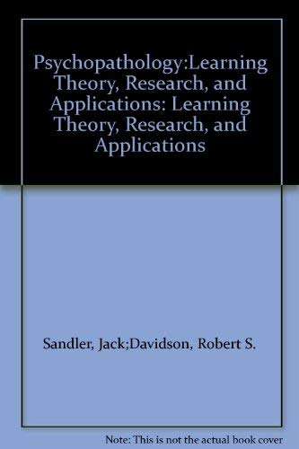 9780060457174: Psychopathology:Learning Theory, Research, and Applications: Learning Theory, Research, and Applications