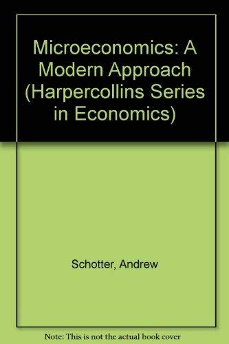 9780060457686: Microeconomics: A Modern Approach (Harpercollins Series in Economics)