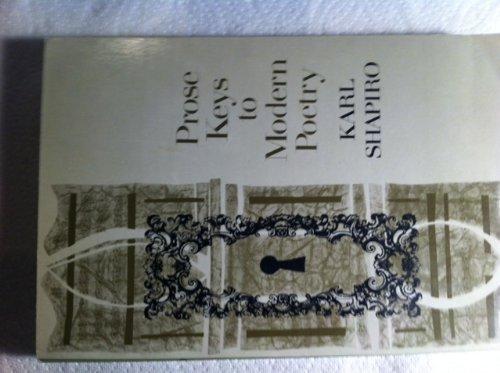 9780060459505: Prose Keys to Modern Poetry