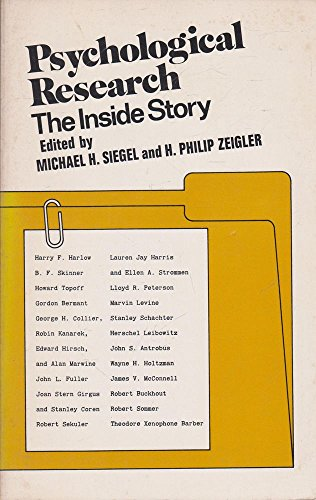 9780060461379: Psychological Research: the Inside Story.