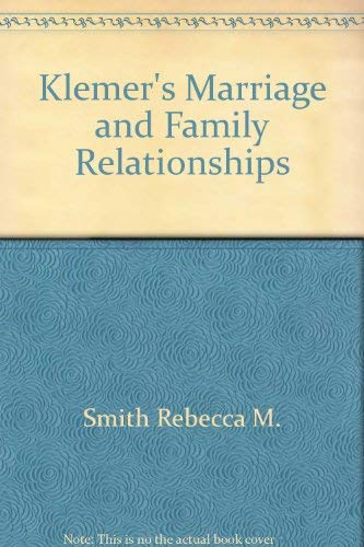 9780060463113: Klemer's marriage and family relationships