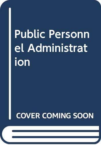 9780060464042: Public Personnel Administration
