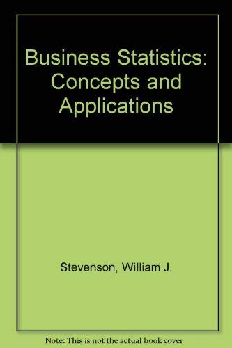 9780060464424: Business Statistics: Concepts and Applications