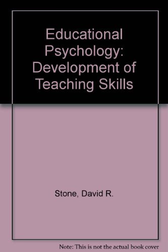 9780060464486: Educational Psychology: Development of Teaching Skills