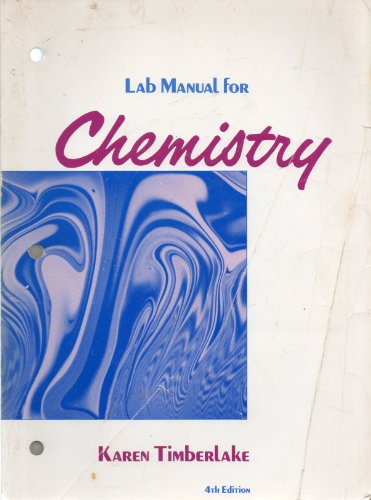 9780060466893: Lab Manual for Chemistry, 4th Edition