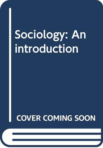 9780060466923: Sociology: An introduction