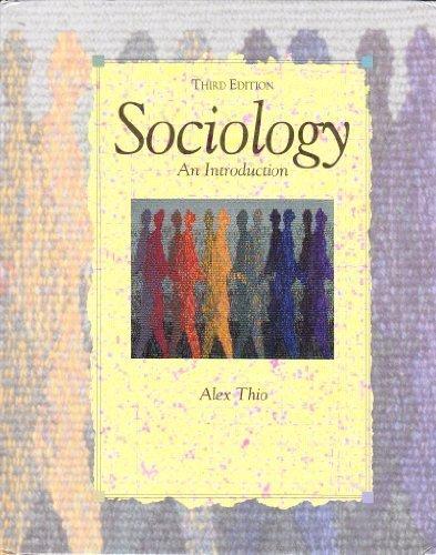 9780060466992: Sociology: An introduction