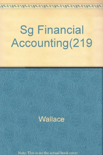 9780060468828: Sg Financial Accounting(219