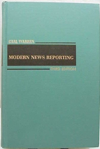 9780060469405: Modern News Reporting