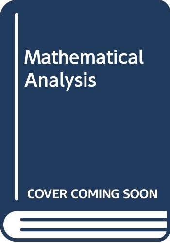 Mathematical Analysis : Business and Economic Applications: Jean E. Weber