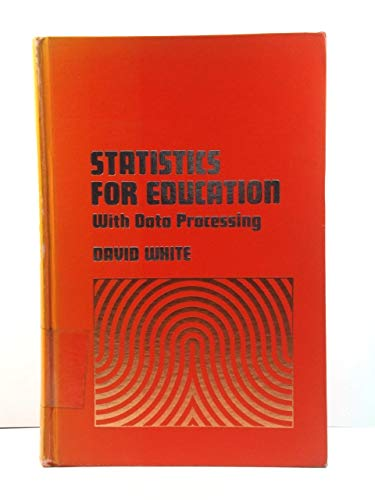9780060470654: Statistics for Education: With Data Processing