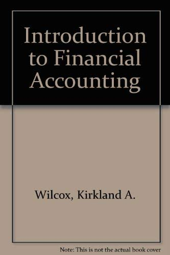 9780060471033: Introduction to Financial Accounting