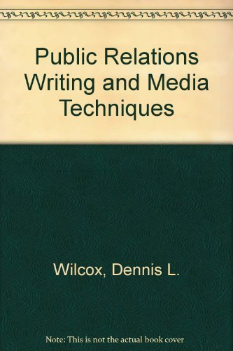 9780060471057: Public Relations Writing and Media Techniques