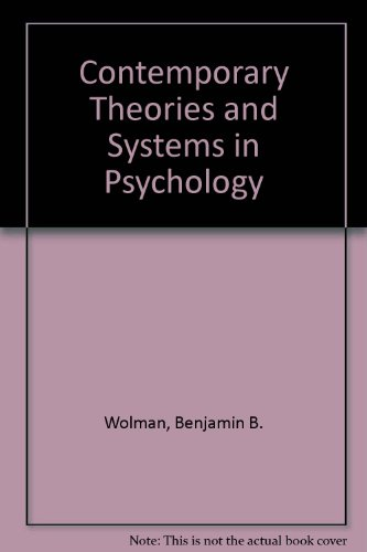 9780060471903: Contemporary Theories and Systems in Psychology