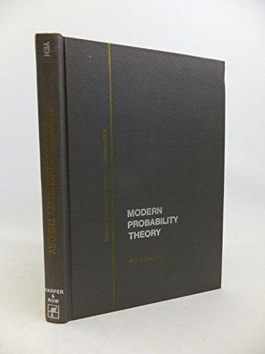 9780060473273: Modern Probability Theory (Modern Mathematics)