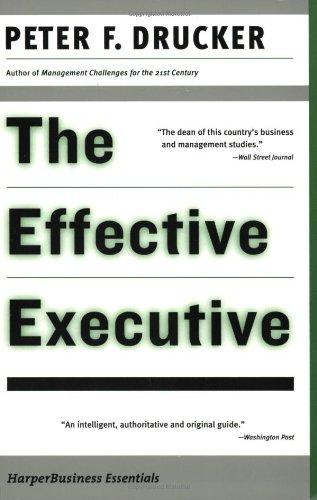 9780060516079: The Effective Executive (Harper Business Essentials)