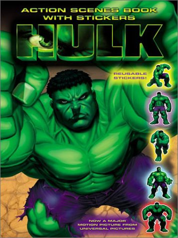 9780060519018: The Hulk: Action Scenes Book with Stickers