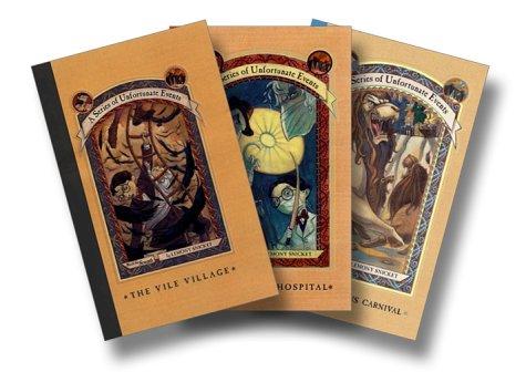 9780060537609: A Set of Unfortunate Events (Books 7-9: The Vile Village, The Hostile Hospital, The Carnivorous Carnival) [Shrink Wrapped]