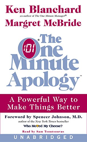 9780060538248: One Minute Apology Unabridged, The