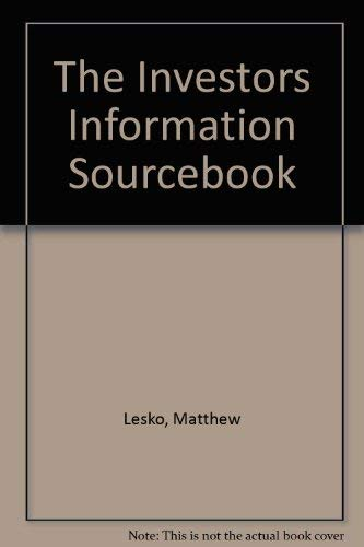 9780060551100: The Investors Information Sourcebook