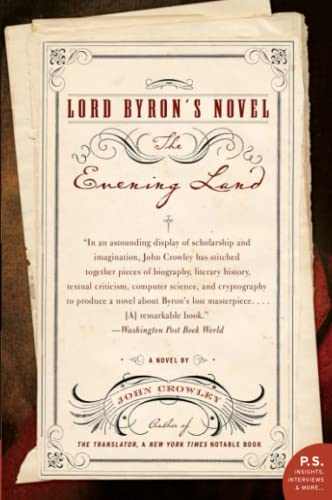 9780060556594: Lord Byron's Novel: The Evening Land