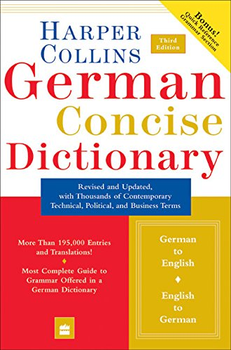 9780060575779: Collins German Concise Dictionary, 3e (HarperCollins Concise Dictionaries) (English and German Edition)