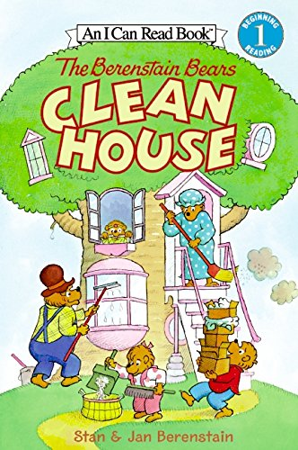 9780060583354: The Berenstain Bears Clean House (I Can Read Book 1)