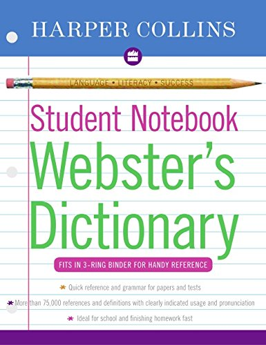 9780060595449: Harpercollins Student Notebook Webster's Dictionary (Collins Language)