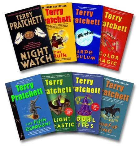 9780060598365: Pratchett 8 Book Set: Night Watch / Truth / Carpe Jugulum / Color of Magic / Fifth Elephant / Light Fantastic / Equal Rights / Thief of Time