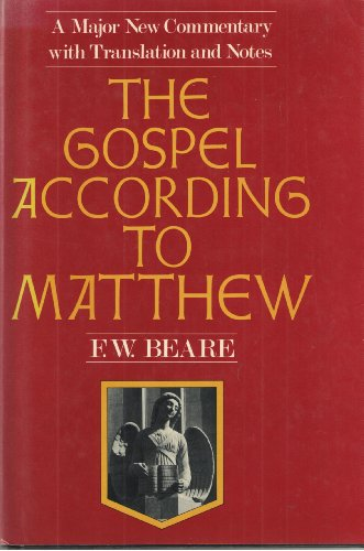 9780060607319: The Gospel according to Matthew: Translation, introduction, and commentary