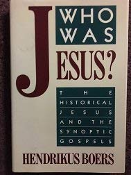 9780060608095: Who Was Jesus?: Historical Jesus and the Synoptic Gospels
