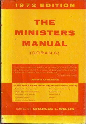 9780060615956: The Minister's Manual (Doran's)