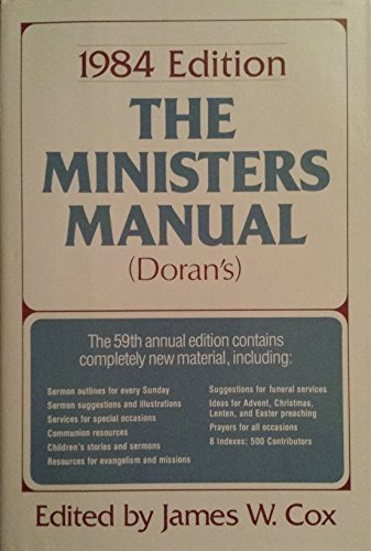 9780060615987: The Minister's Manual 1984