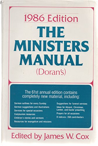 Ministers Manual 1986: Cox, James W.,