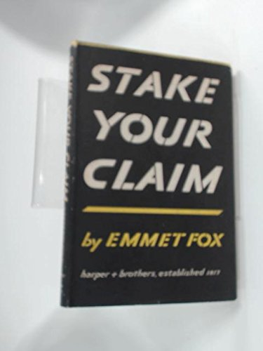 9780060629700: Stake Your Claim