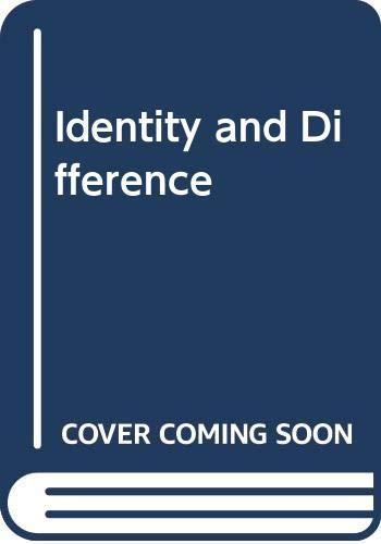 9780060638498: Identity and Difference (Works / Martin Heidegger)