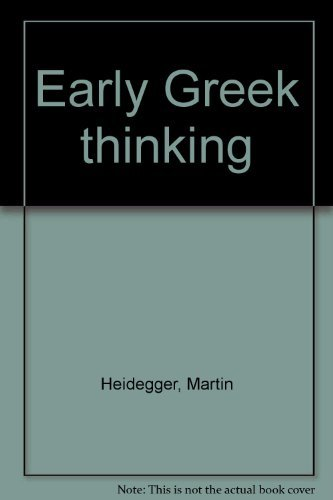 9780060638580: Early Greek thinking